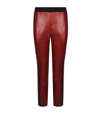 Pinko Leather Panel Jersey Trousers Female Multi