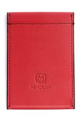 Men's M Clip Rfid Card Case Red