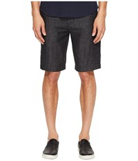 Vince Relaxed Linen Shorts Charcoal