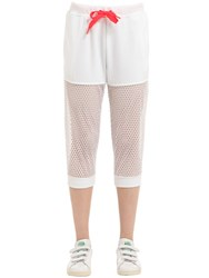 Adidas By Stella Sport Mesh And Cotton French Terry Sweatpants