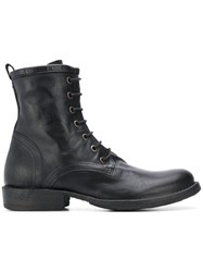 Fiorentini Baker Lace Up Eternity Boots Black