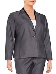 Lafayette 148 New York Plus Size Jalena Wool And Silk Blend Jacket Black