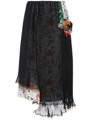 Kolor Double Layer Pleated Skirt Blue
