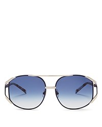 Wildfox Couture Dynasty Aviator Sunglasses 64Mm Blue Coconut Blue Gradient