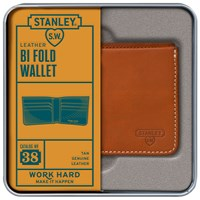 Stanley Bi Fold Leather Wallet Tan