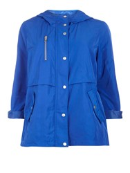 Evans Blue Hooded Coat