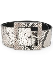 Orciani Snakeskin Belt Grey