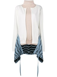 Loewe Back Patterned Cardigan Nude And Neutrals