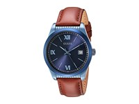 Guess U0874g4 Sky Blue Brown Leather Watches