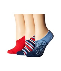 Converse 3 Pack Shady Mix Microfiber Made For Chuck Navy Assorted Low Cut Socks Shoes Multi
