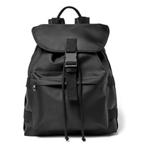 A.P.C. Sylvain Canvas Trimmed Shell Backpack Black