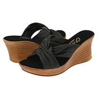 Onex Puffy Black Women's Wedge Shoes