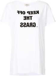 Anya Hindmarch Keep Off The Grass T Shirt White