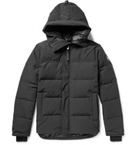 Canada Goose Black Label Macmillan Quilted Shell Hooded Down Parka Black