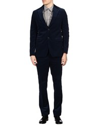 Faconnable Suits Dark Blue