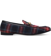 Gucci Brixton Tartan Loafers Mult Other