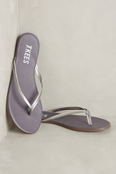 Anthropologie Tkees Duos Leather Sandals Silver