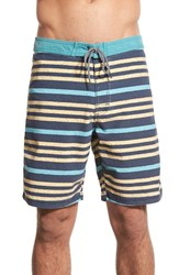 Men's Katin Chalk Stripe Board Shorts Navy
