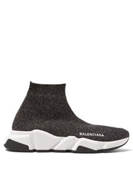 Balenciaga Speed Trainers Black Silver