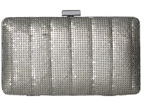 Jessica Mcclintock Noelle Quilted Mesh Clutch Pewter Clutch Handbags