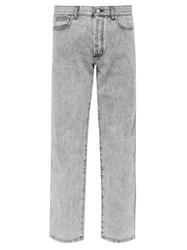 Givenchy Acid Wash Straight Leg Jeans Light Grey