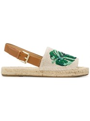 Michael Michael Kors Fisher Sling Back Espadrilles Nude And Neutrals