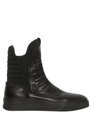 Bruno Bordese Leather And Neoprene Tall Sneakers