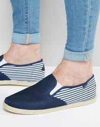 Rock And Religion Slip On Plimsolls Blue