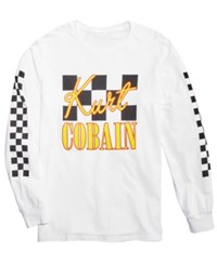 Fea Kurt Cobain Long Sleeve Graphic Print T Shirt White