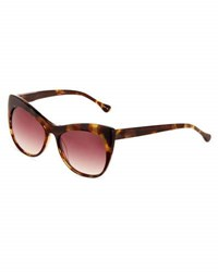 Elizabeth And James Lafayette Cat Eye Sunglasses Brown Pattern