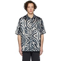 Han Kjobenhavn Black And White Satin Zebra Boxy Shirt