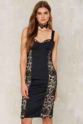Nasty Gal Collection Dark Habits Crochet Lace Dress 74935