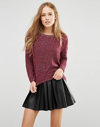 Pussycat London Jumper Burgundy Pink