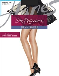 Hanes Silk Reflections Silk Control Top Satin Finish Barely There