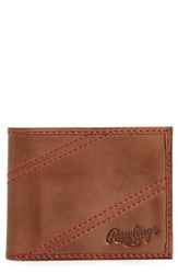 Rawlings Sports Accessories Men's Two Strikes Leather Bifold Wallet