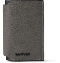 Lanvin Bifold Full Grain Leather Wallet Gray