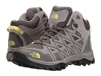 The North Face Storm Iii Mid Wp Dark Gull Grey Chiffon Yellow Women's Hiking Boots Gray