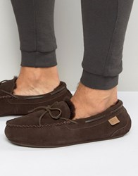 Just Sheepskin Moccasin Slippers Brown