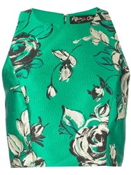 Alice Olivia Fitted Crop Top Green