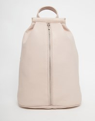 Matt And Nat Backpack With Front Zip Fastening In Pastel Pink Pink