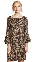 Three Dots Leopard Print Dress Black Camel