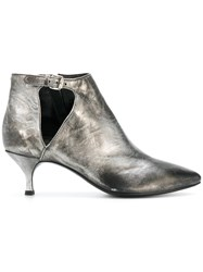 Strategia Faded Pointed Ankle Boots Metallic