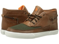 Polo Ralph Lauren Pietro Polo Tan Company Olive Burnished Leather Canvas Men's Lace Up Boots Brown
