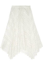 Zimmermann Gemma Broderie Anglaise Cotton And Silk Blend Skirt