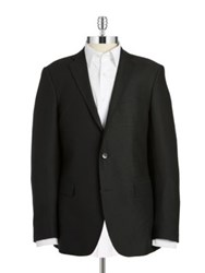 Black Brown Jack Fit Slim Two Button Wool Blazer Black