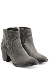 Zadig And Voltaire Suede Ankle Boots Grey