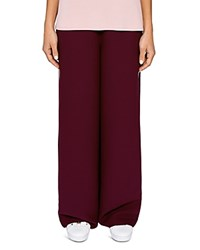 Ted Baker Says Relax Yuli Wide Leg Pants Oxblood