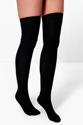 Boohoo Over The Knee Socks 3 Pack Black