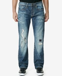 Buffalo David Bitton Men's King X Slim Fit Bootcut Stretch Jeans Heavily Rugged