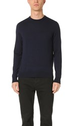 Z Zegna Merino Wool Crew Sweater Navy